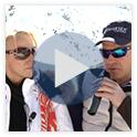 Stars zum Anfassen auf 2600 m Höhe - Marc Girardelli und Paul Accola auf der Blauen Couch